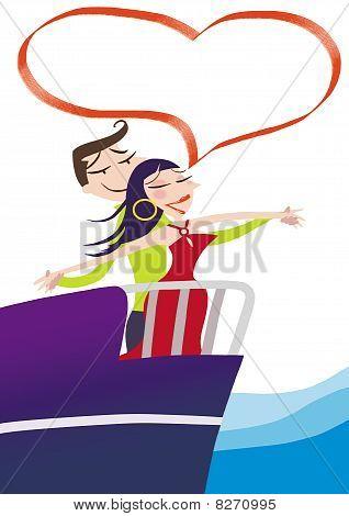 Loving Couple auf Kreuzfahrt