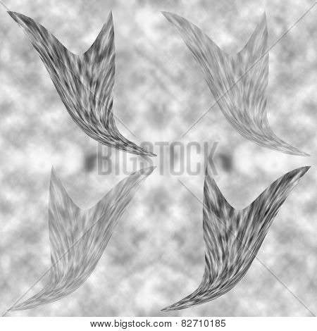 Seamless Texturefeathers Consisting Of Fleece On A Background Of Clouds