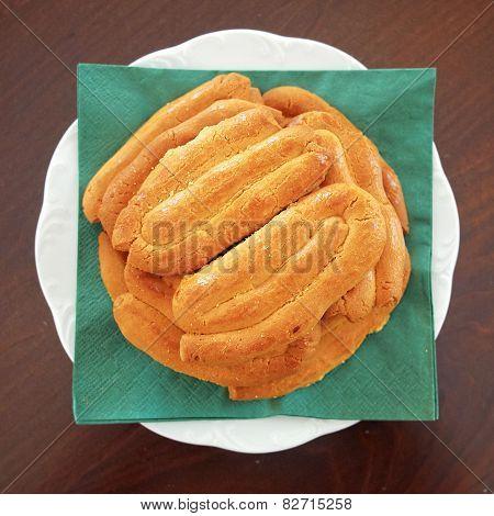homemade Christmas Greek cookies served