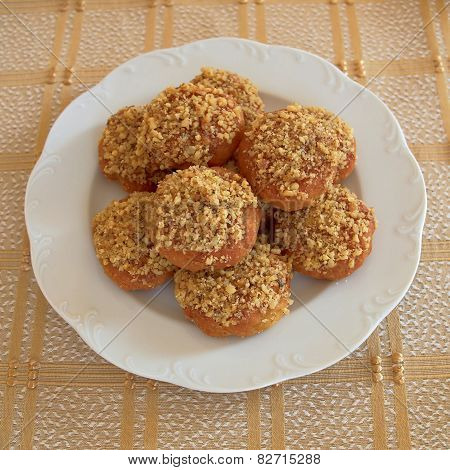 melomakarona greek Christmas honey and nuts cookies