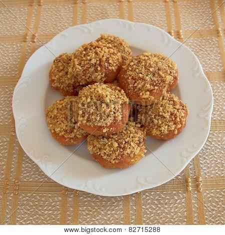 melomakarona greek Christmas honey and nuts cookies