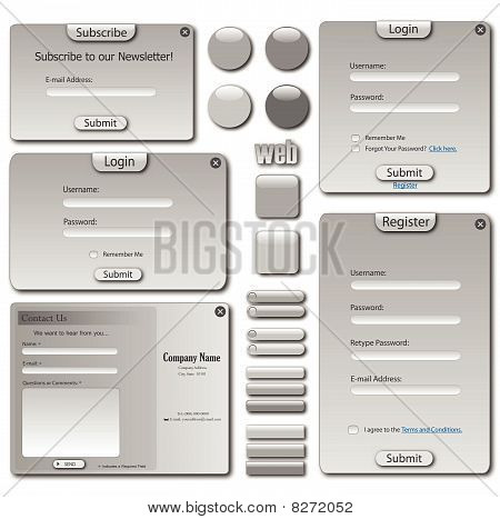 Grey Web Template