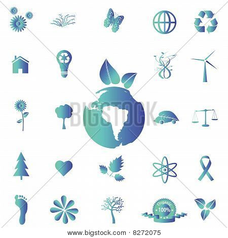 Blue Eco Icons
