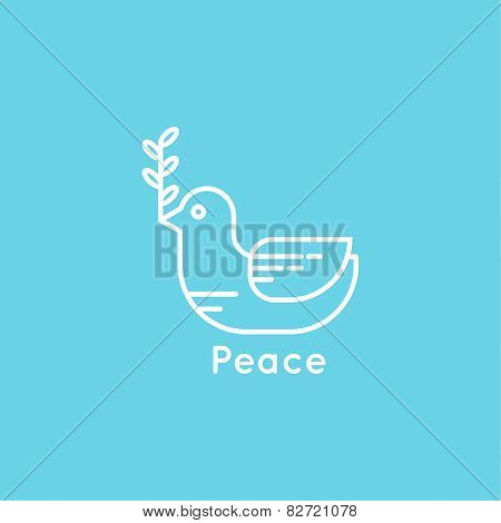 Symbol of peace dove