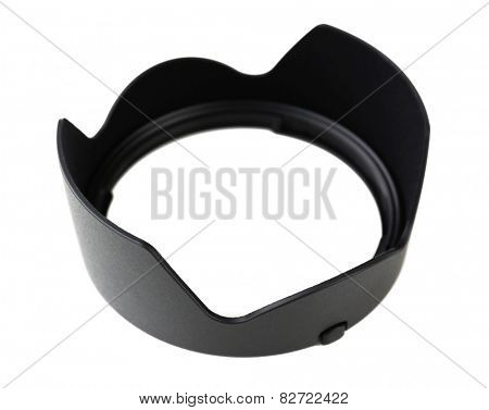 Lens hood isolated on white