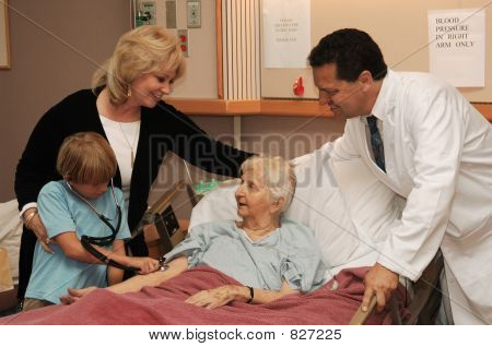 nursing home visit with doctor