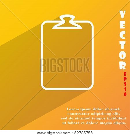 Paper Clip Icon Symbol Flat Modern Web Design With Long Shadow And Space For Your Text. Vector