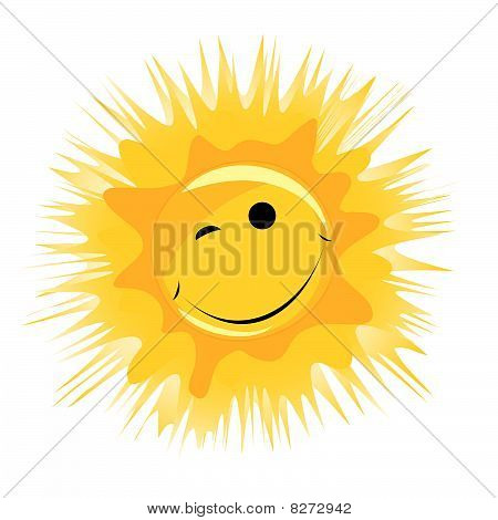 vector happy sun