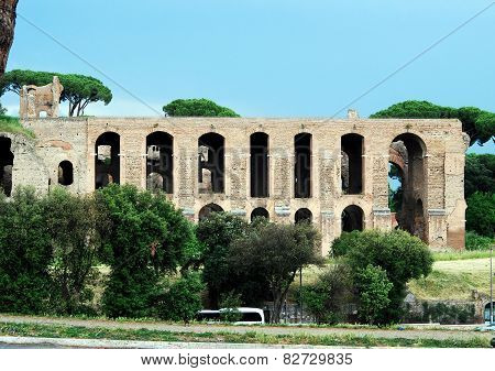 View Of Ruins In Rome City On May 31, 2014