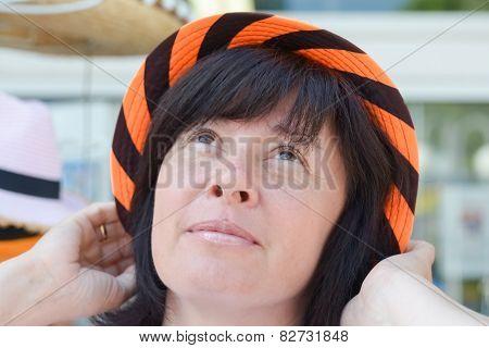 Happy Woman In A Hat