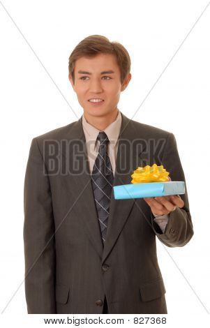 Young Man Bearing a Gift