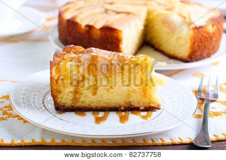 Slice Of Pear Cake