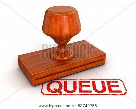 Rubber Stamp queue (clipping path included)