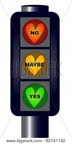 Yes No Maybe Traffic Lights