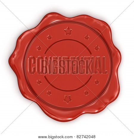 Wax Stamp Confidential (clipping path included)