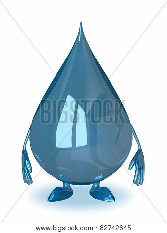 Water Drop Character Isolated