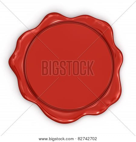 Blank Wax Stamp (clipping path included)