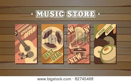 Musical Retro Cards