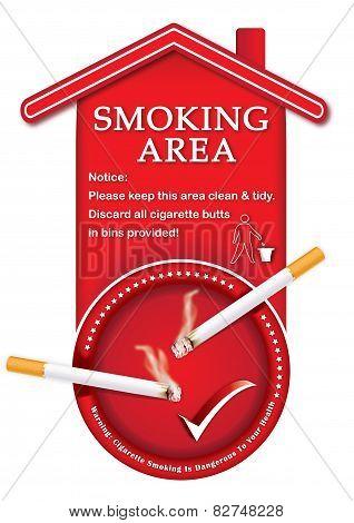 Printable sticker - smoking area