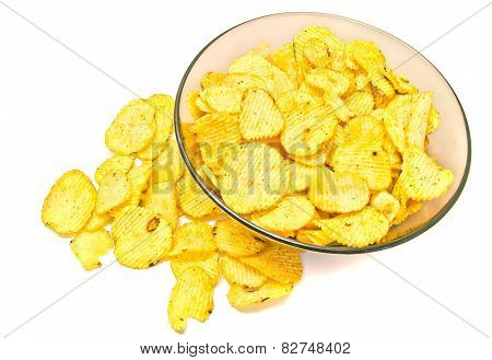 Plate With Ruffles Potato Chips