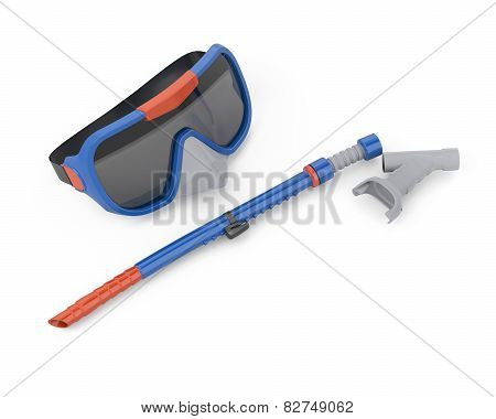 Scuba Mask And Tube For Swimming