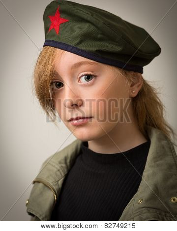 Teenage Ginger Girl In Revolution Barret Hat