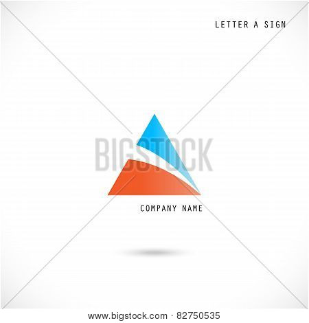 Creative Letter A Icon Abstract  Logo Design Vector Template.