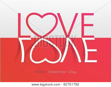 Happy Valentines Day celebration greeting card with stylish text Love.