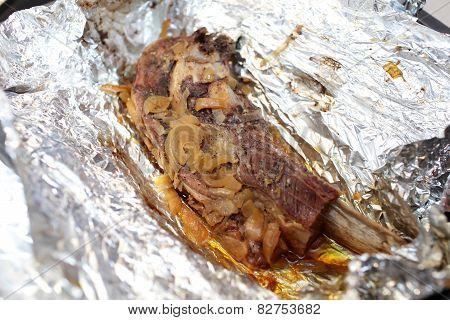 Beef Brisket Baked In Foil