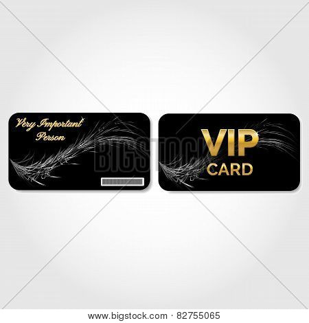 VIP Card decorated with a feather