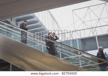 People Visiting Bit 2015, International Tourism Exchange In Milan, Italy