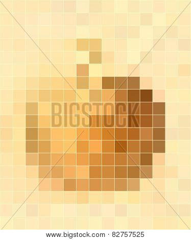 Yellow Apple Mosaic Background