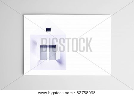 Blank card with paper house
