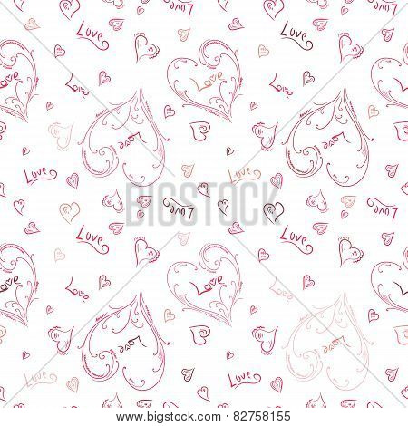 Hand-painted heart pattern