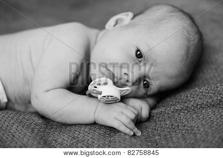Newborn With Dummy