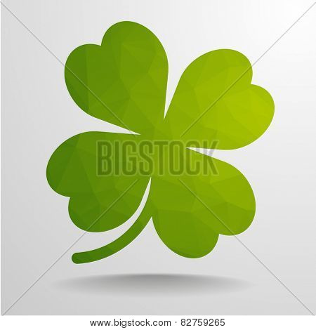 detailed illustration of an abstract polygon clover, eps10 vector