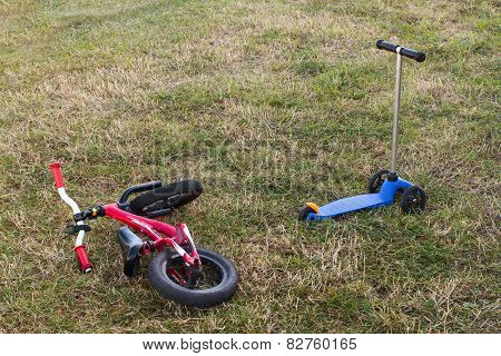 Childrens Bike And Scooter