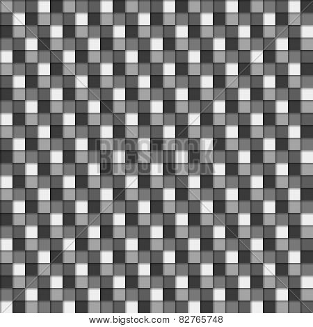 Seamless 3D Pattern In Greyscale Colors