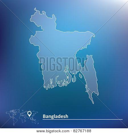 Map of Bangladesh - vector illustration