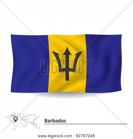 Flag of Barbados - vector illustration
