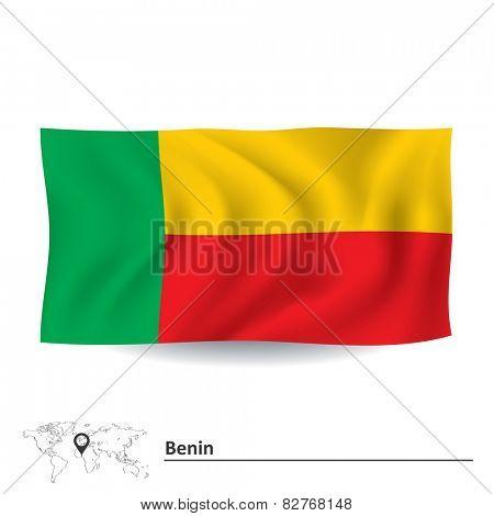 Flag of Benin - vector illustration