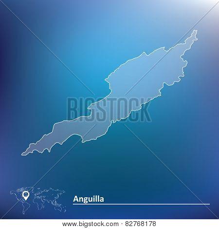Map of Anguilla - vector illustration