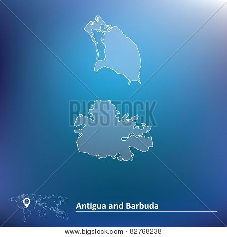 Map of Antigua and Barbuda - vector illustration