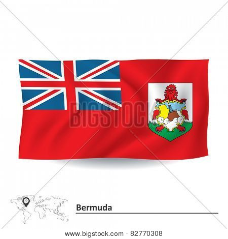 Flag of Bermuda - vector illustration
