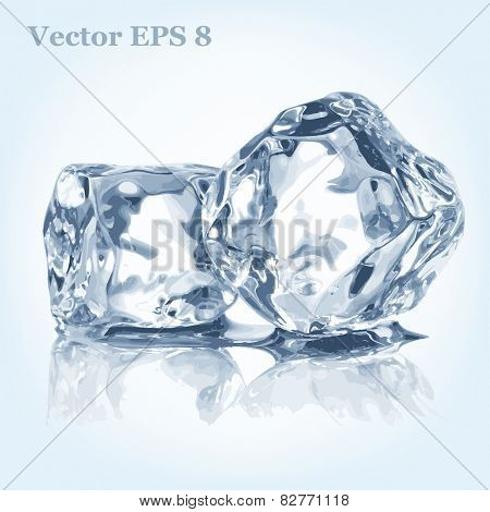Ice cubes, vector EPS 8