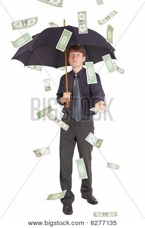 Businessman Came Under Rain Of Money