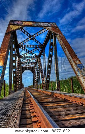 Rusty train trestle