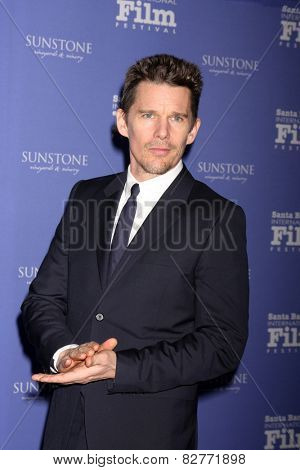 SANTA BARBARA - FEB 5:  Ethan Hawke at the Santa Barbara International Film Festival - American Riviera Award at a Arlington Theater on February 5, 2015 in Santa Barbara, CA