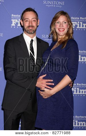 SANTA BARBARA - FEB 5:  Eric Price, Jennifer Flack at the Santa Barbara International Film Festival - American Riviera Award at a Arlington Theater on February 5, 2015 in Santa Barbara, CA