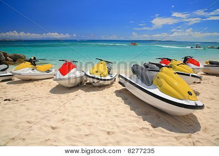 Jetski On Paradise Island Beach